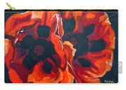 2 Poppies Carry-all Pouch