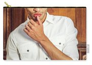 Portrait Of Young Businessman.  Carry-all Pouch