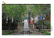 Public Fountain And Gardens In Palma Majorca Spain Carry-all Pouch