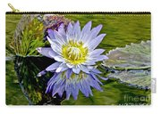Purple Water Lily Pond Flower Wall Decor Carry-all Pouch