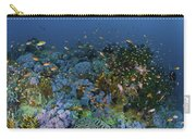 Reef Scene With Coral And Fish Carry-all Pouch by Mathieu Meur