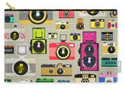 Retro Camera Pattern Carry-all Pouch by Setsiri Silapasuwanchai
