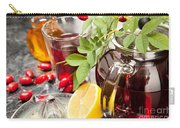 Rosehip Tea With Honey And Lemon In Glass Carry-all Pouch