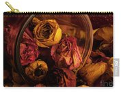 Roses Spilling Out Of Vase Carry-all Pouch
