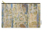 Rouen Cathedral, West Facade, Sunlight Carry-all Pouch