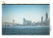 San Francisco California City Skyline At Spring Sunset Carry-all Pouch