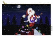 Santa Plays Guitar In A Snowstorm Carry-all Pouch