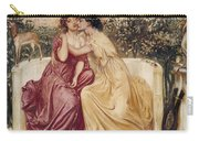 Sappho And Erinna In A Garden At Mytilene Carry-all Pouch
