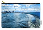 Seattle Washington Cityscape Skyline On Partly Cloudy Day Carry-all Pouch