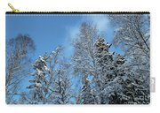 Snowy Trees Against A Blue Sky Carry-all Pouch