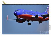 Southwest Airlines Airplane In Flight Carry-all Pouch