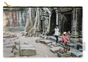 Souvenir Trinket Stall Vendor In Angkor Wat Famous Temple Cambod Carry-all Pouch