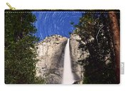Star Trails At Yosemite Falls Carry-all Pouch