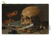 Still Life With A Skull And A Writing Quill Carry-all Pouch