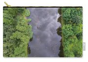 Summer Landscape. Green Trees At Riverbank In Poland. Carry-all Pouch