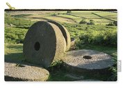 Summer Landscape Image Of Millstones On Top Of Stanage Edge In P Carry-all Pouch