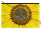 Sunflower Peace Sign Carry-all Pouch