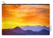 Sunrise Over Colorado Rocky Mountains Carry-all Pouch