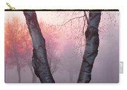 Sunrise Trees Fog Carry-all Pouch