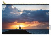Sunset At Strumble Head Lighthouse Carry-all Pouch