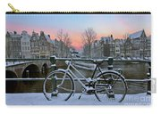 Sunset In Snowy Amsterdam In The Netherlands In Winter Carry-all Pouch