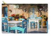 Tables In A Traditional Italian Restaurant In Sicily, Italy Carry-all Pouch