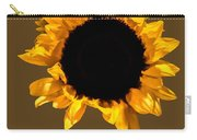 Sunflower Stretching On Brown Carry-all Pouch