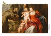The Holy Family With Saints Francis And Anne And The Infant Saint John The Baptist Carry-all Pouch