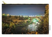 The Monroe Street Dam And Bridge At Night, In Spokane, Washingto Carry-all Pouch