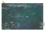 The Water Lilies, Green Reflections Carry-all Pouch