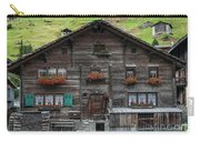 Traditional Swiss Alps Houses In Vals Village Alpine Switzerland Carry-all Pouch