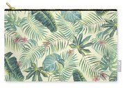 Tropical Leaves Pattern Carry-all Pouch