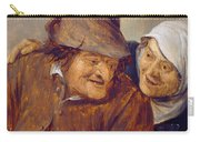 Two Peasants With A Glass Of Wine Carry-all Pouch