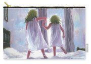 Two Sisters Jumping On The Bed  Carry-all Pouch