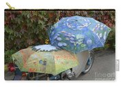 2 Umbrellas On Motorcycle  Carry-all Pouch