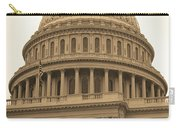United States Capitol Building Sepia Carry-all Pouch