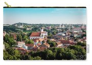 view of downtown in Vilnius city, Lithuanian Carry-all Pouch