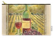 Vineyard Pinot Noir Grapes N Wine - Batik Style Carry-all Pouch
