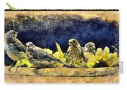 Vintage Bluebird Print Carry-all Pouch