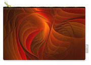 Warmth, Modern Abstract Fractal Art Carry-all Pouch