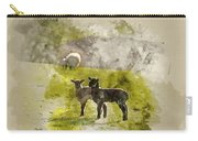 Watercolor Painting Of Beauitful Landscape Image Of Newborn Spri Carry-all Pouch