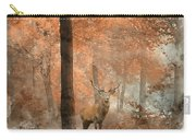 Watercolour Painting Of Beautiful Image Of Red Deer Stag In Fogg Carry-all Pouch