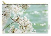 White Cherry Blossoms Trees Carry-all Pouch