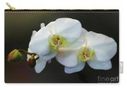 White Orchid - Doritaenopsis Orchid Carry-all Pouch