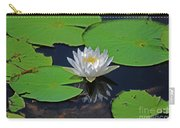 2- White Water Lily Carry-all Pouch