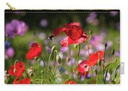 Wild Flowers And Red Poppies Carry-all Pouch