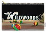 Wildwood's Sign At Night On The Boardwalk  Carry-all Pouch