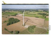Wind Turbines In Suwalki. Poland. View From Above. Summer Time. Carry-all Pouch