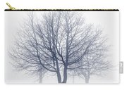 Winter Trees In Fog Carry-all Pouch by Elena Elisseeva