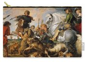 Wolf And Fox Hunt Carry-all Pouch